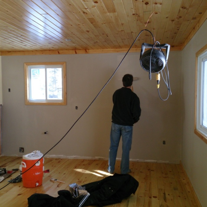Painting the interior