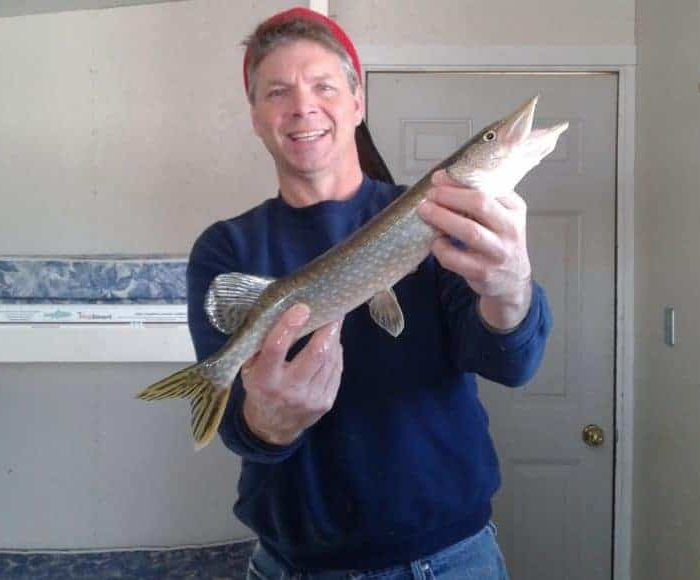 Pike caught ice fishing