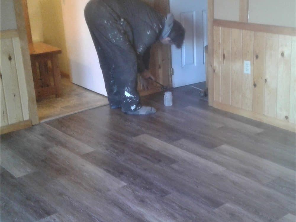 new luxury vinyl flooring in Sunset Cottage
