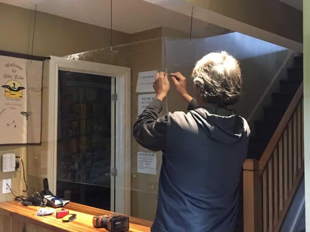 Installing plexi-glass