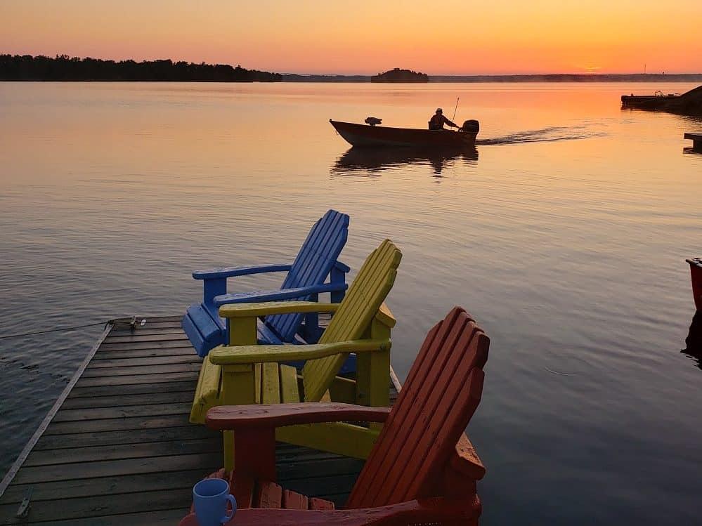 Early morning fishing on Lake Nipissing