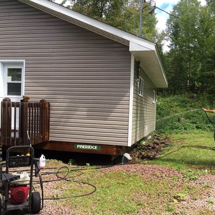 Cleaning Siding Sept 2, 2020